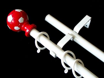 19/19mm Double Layer Red Football Curtain Pole 1.2m 1.5m 2.4m 3m (2)